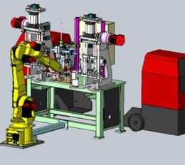 机器人焊接+检测设备