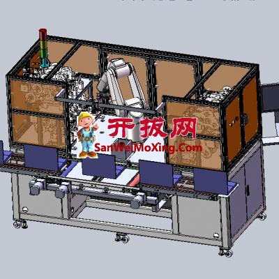 机械手贴标机(准确实现取标/拨标/贴标工作)