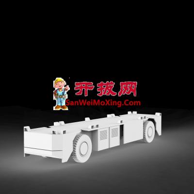 一款AGV小车外型模型