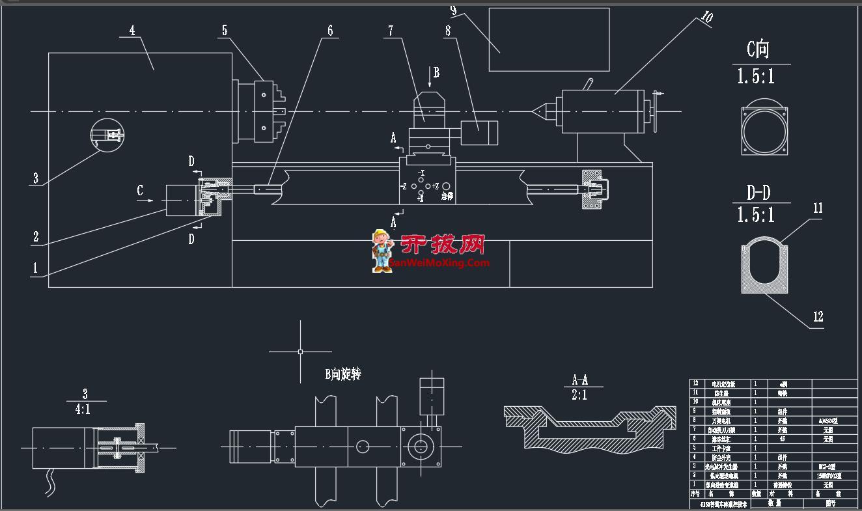 CA6150普通车床数控技术改造外形图