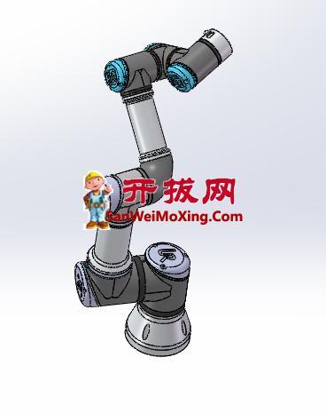优傲机器人UR3三维图