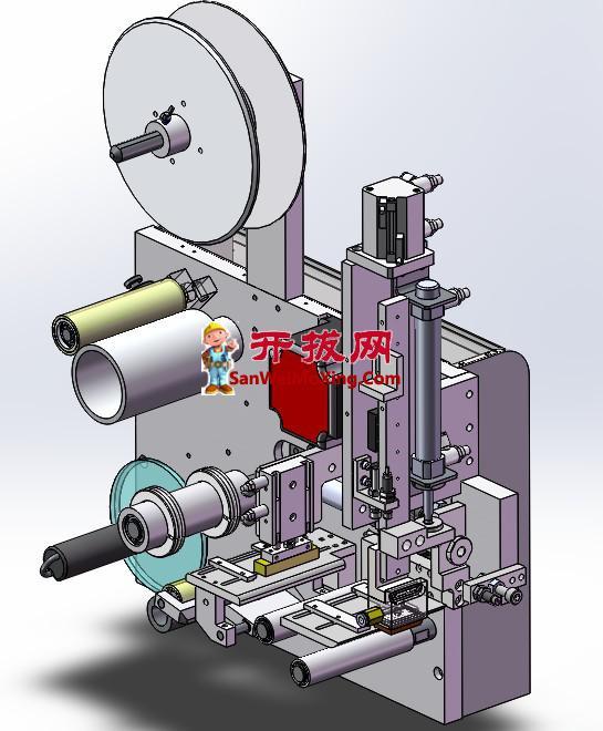 贴标机标签出标机供膜机构