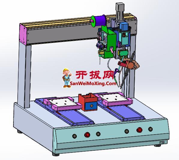 双工位自动焊锡机(量产图档,3D细节非常详实)