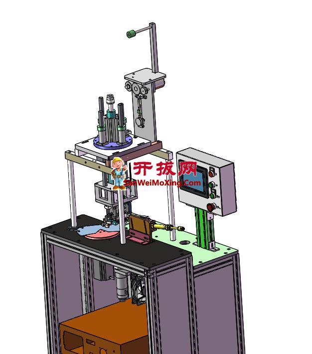 N95旋转半自动旋转焊带机3D+2D+BOM表
