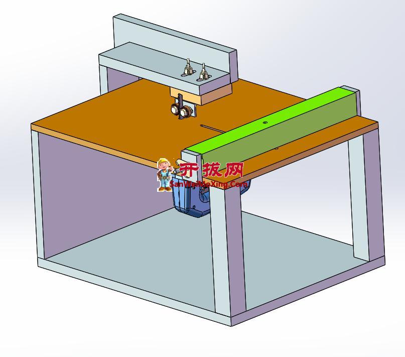 切割台设计模型