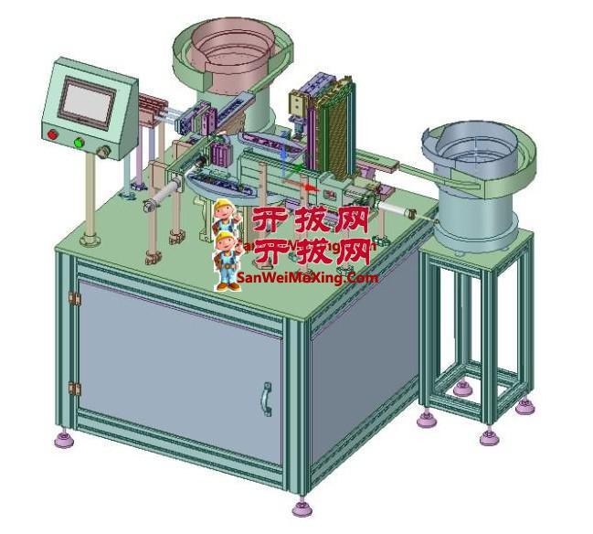 玩具标牌装配设备JX65_ASM_FR_LH HIGH_AllCATPart(左前)