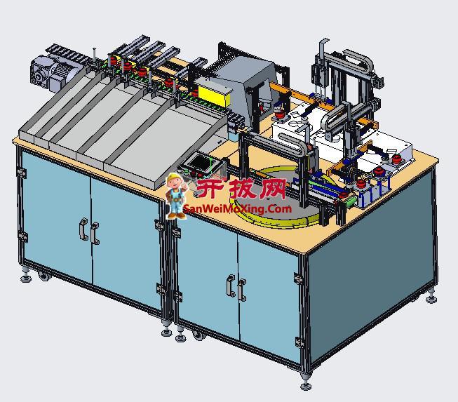 自动CG内环检测设备3D+工程图+PLC程序全套