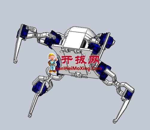 伺服四足机器人