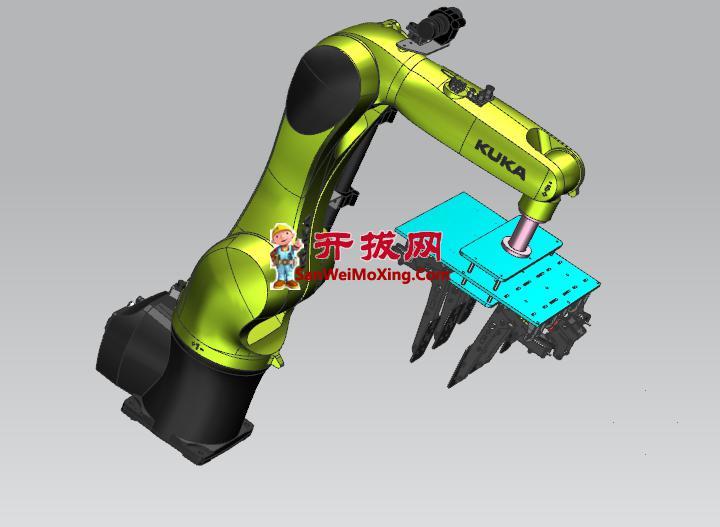机器人自动化抓取纸箱抱具设计
