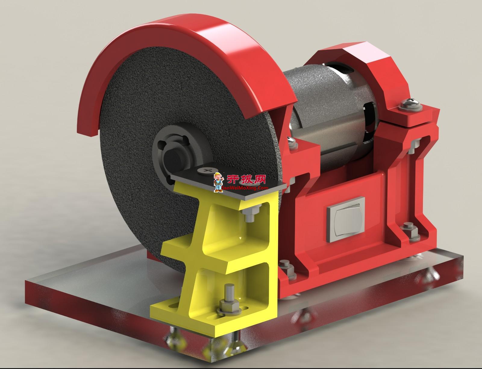 电动切割机3D模型