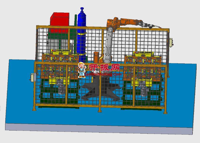 机器人焊接工作台设计模型