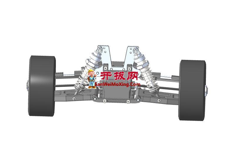 电动汽车悬架结构模型