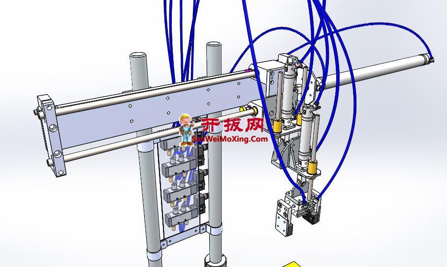 垂直轴双行程机械手模型