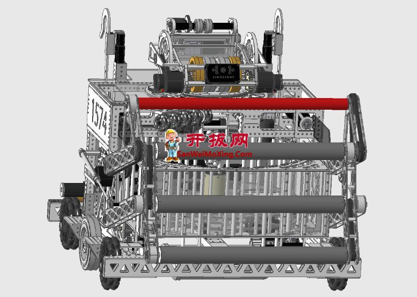 M1574球类比赛机器人车模型