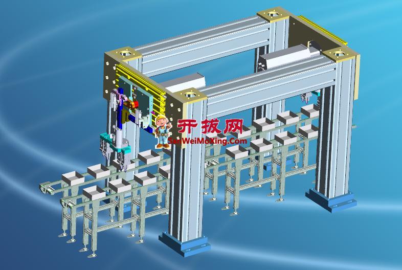 凸轮机械手跟线高速取料设计