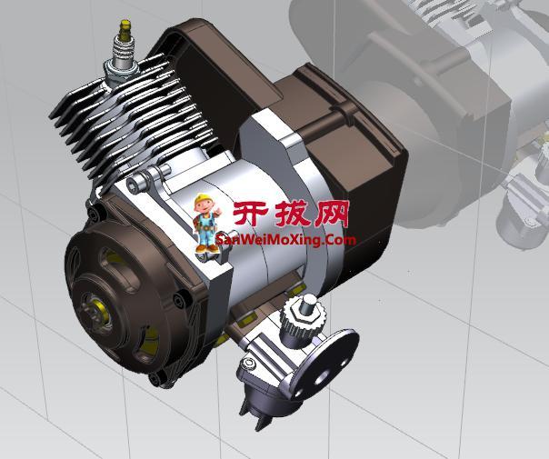 摩托车发动机构模型设计