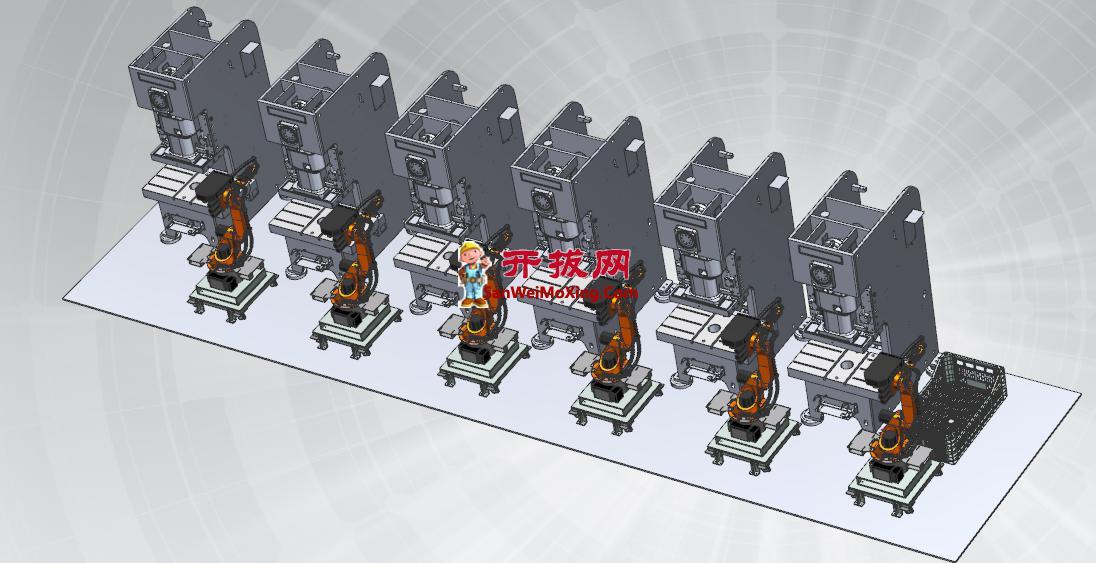 机器人自动化冲压线方案设计