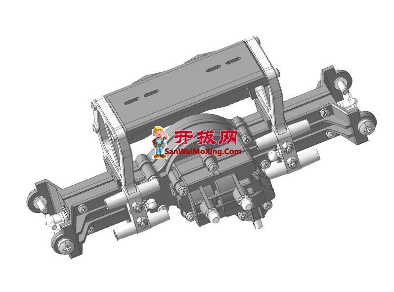 越野车双臂悬架结构模型