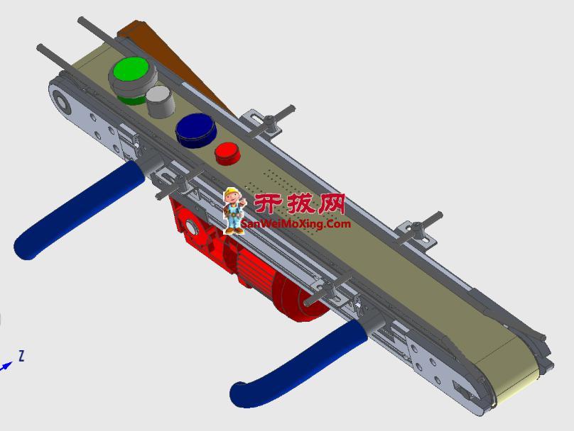 窄型带式输送机模型